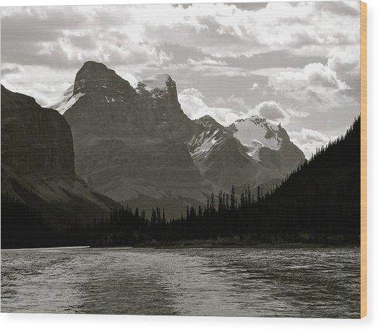 Towering Peaks Wood Print