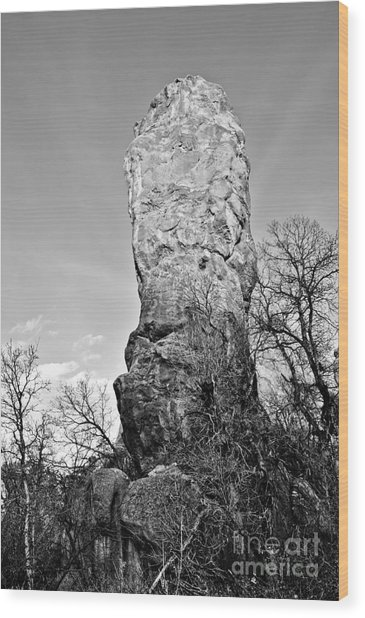 Towering Rock Wood Print