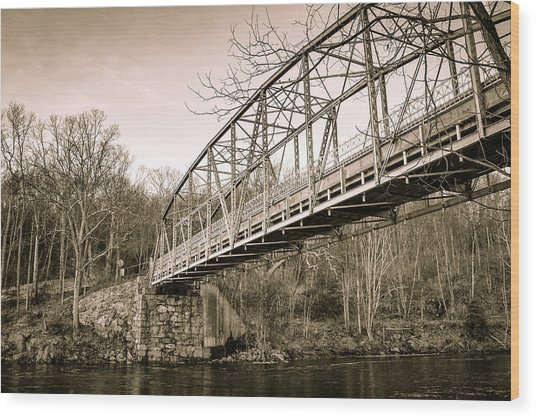 Town Bridge Collinsville Connecticut Wood Print