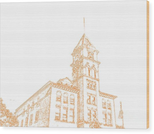 Town Hall Lancaster Ny Wood Print