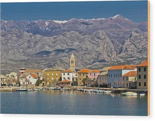 Town Of Vinjerac Waterfrot View Wood Print