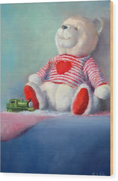 Toy Bear #1 Wood Print by Rich Kuhn
