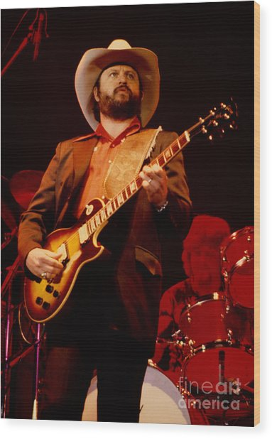 Toy Caldwell Of The Marshall Tucker Band At The Cow Palace Wood Print
