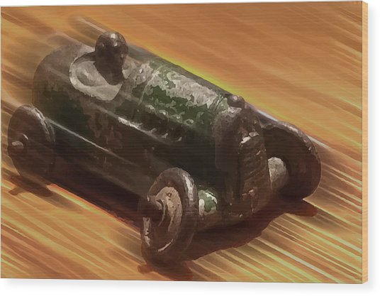 Toy Car Wood Print