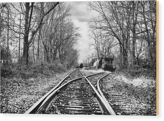 Tracks Of History Wood Print by John Rizzuto