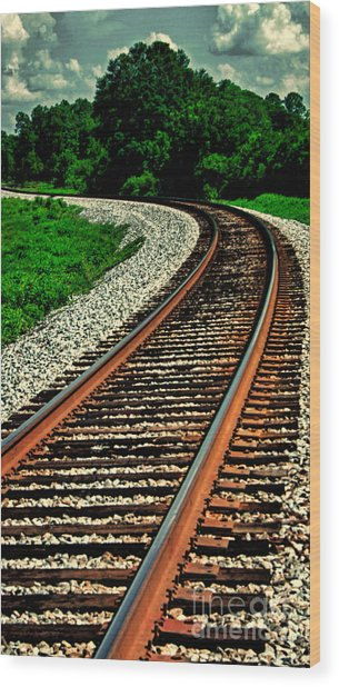 Tracks To Infinity Wood Print