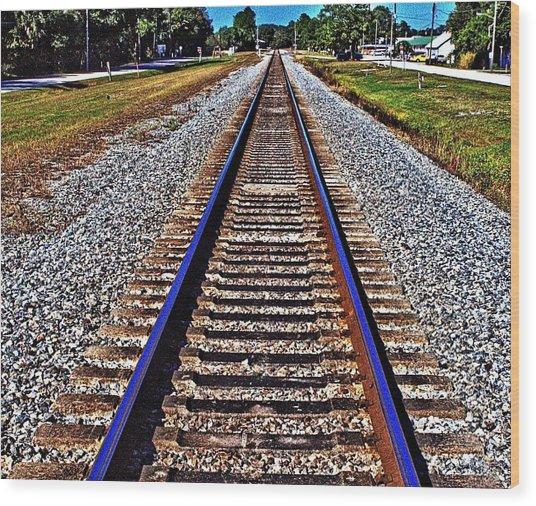 Tracks To Somewhere Wood Print