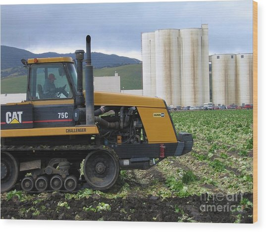 Tractor At Spreckels Wood Print