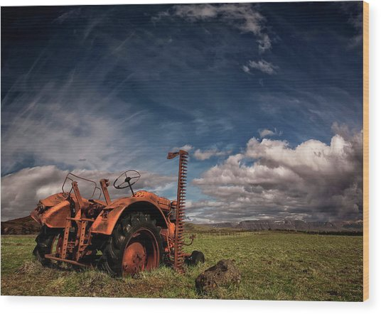 Tractor Wood Print by ?orsteinn H. Ingibergsson