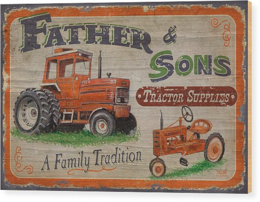 Tractor Supplies Wood Print