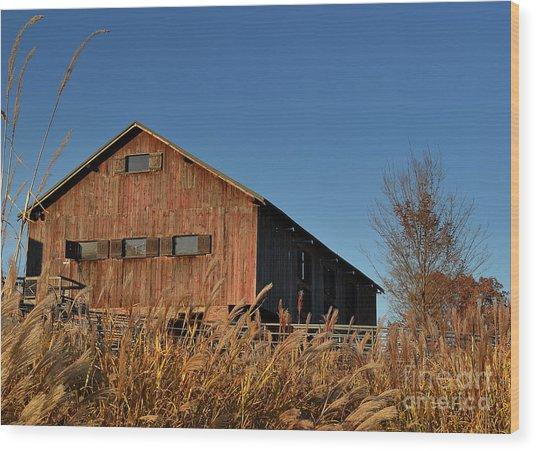 Traders Point Barn Wood Print