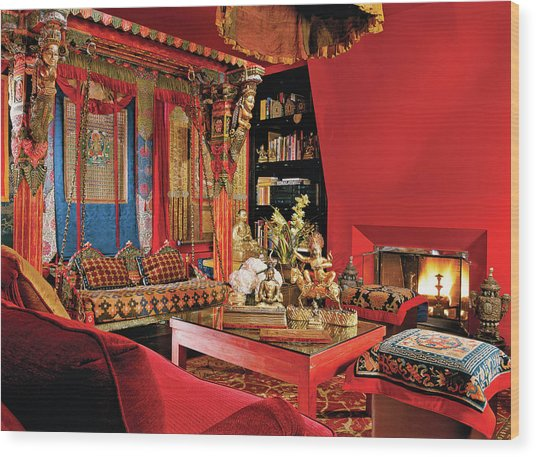 Traditional Home Interior Wood Print