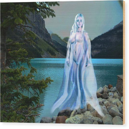 Traditional Modern Female Nude Lady Of The Lake Wood Print