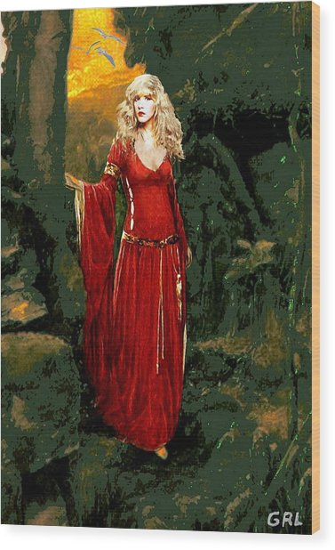 Traditional Modern Original Painting Stevie Nicks Rhiannon Wood Print