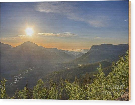 Trail Ridge Road Sunrise Wood Print