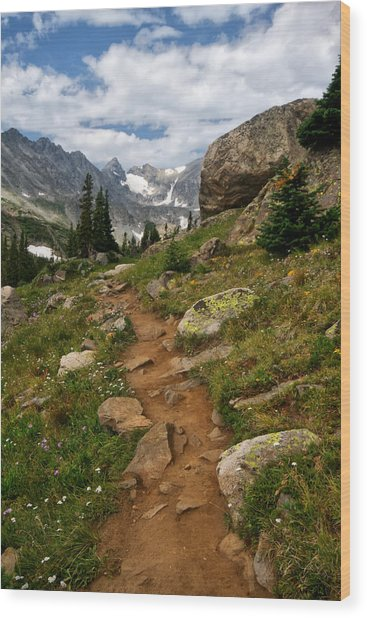 Trail To Lake Isabelle Wood Print
