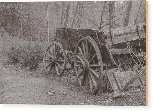 Trail's End Wood Print by William Culler