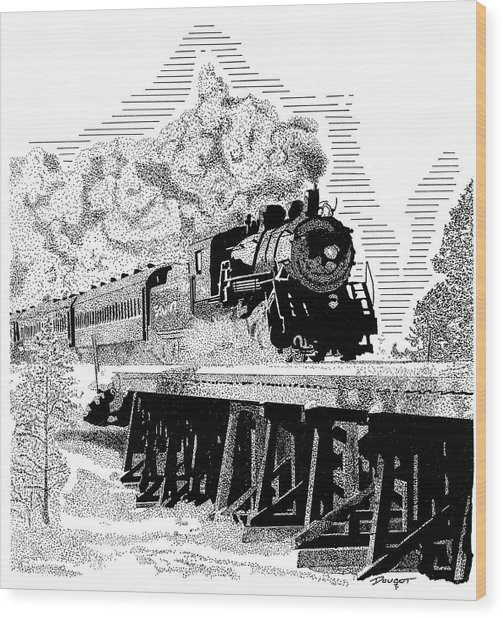 Train 1 Wood Print