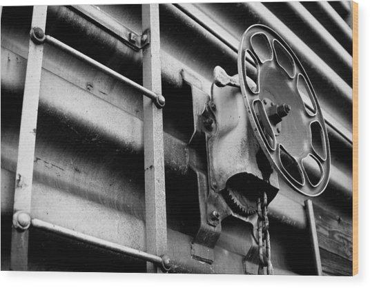 Train 11 Wood Print