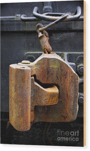 Train Car Coupler Wood Print