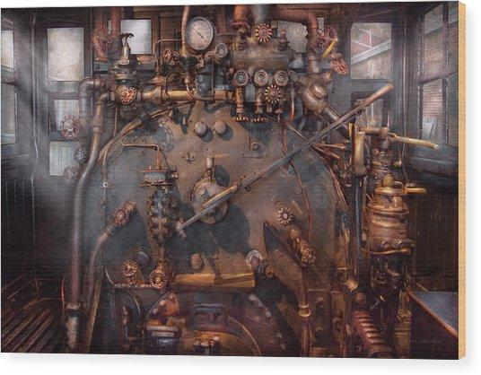 Train - Engine - Hot Under The Collar  Wood Print