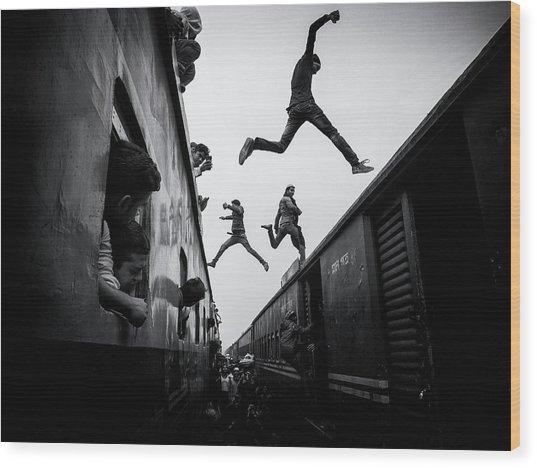 Train Jumpers Wood Print by Marcel Rebro