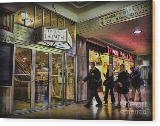 Train Station - Going Home Wood Print by Lee Dos Santos