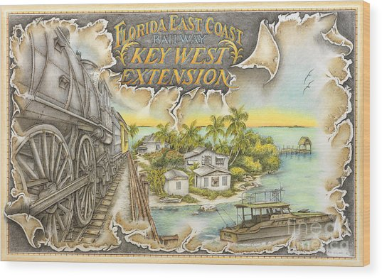 Train To Paradise Wood Print by Mike Williams
