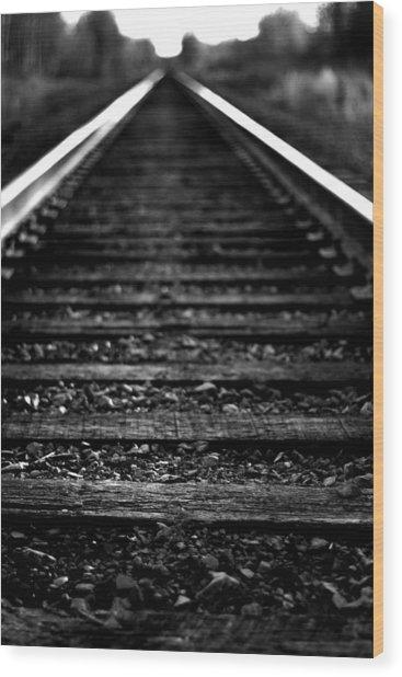 Train Tracks Wood Print by Nikki Dunn