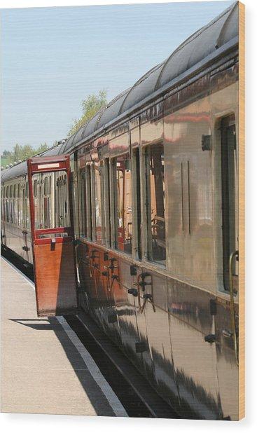 Train Transport Wood Print