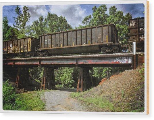 Train Trestle Wood Print
