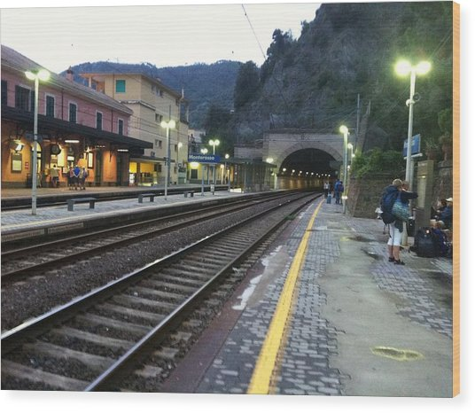 Train Tunnel In Cinque Terre Italy Wood Print