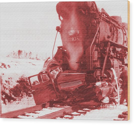 Train V Car Wood Print
