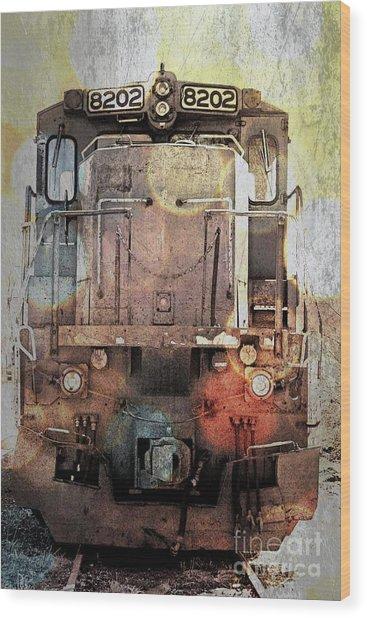 Trains At Rest Wood Print