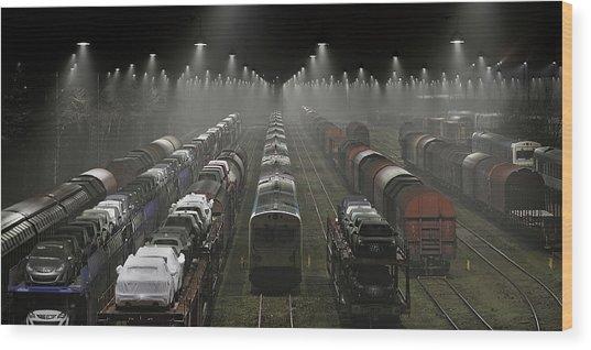 Trainsets Wood Print