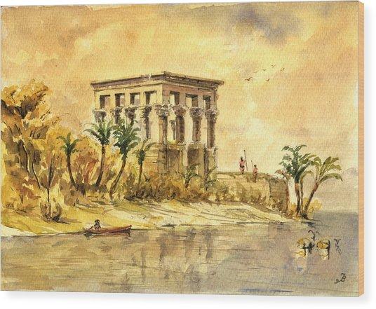 Trajan Kiosk Temple Aswan Egypt Wood Print
