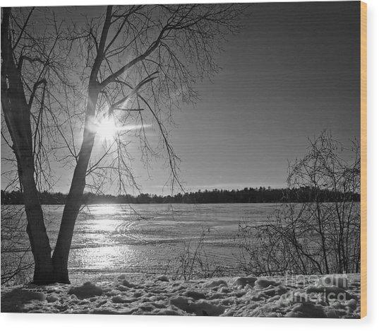 Tranquil Sunset Wood Print