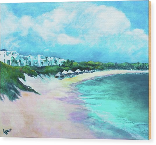 Tranquility Anguilla Wood Print