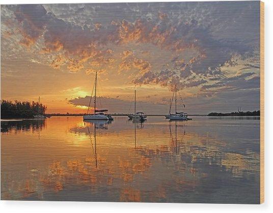 Tranquility Bay - Florida Sunrise Wood Print