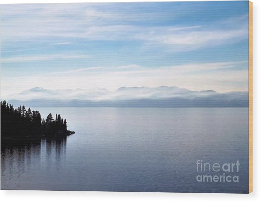 Tranquility - Lake Tahoe Wood Print