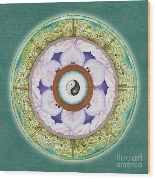 Tranquility Mandala Wood Print