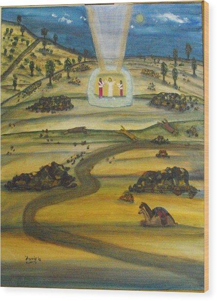 Transfiguration Of Jesus Wood Print
