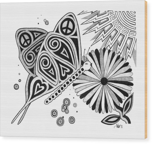 Transformation  Wood Print