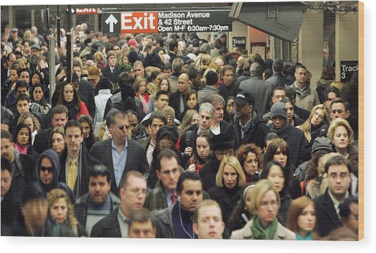 Transit Strike Looms For New York City Commuters Wood Print by Mario Tama
