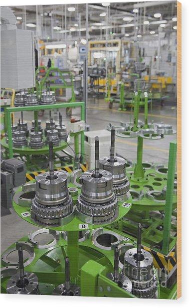 Transmission Plant Wood Print