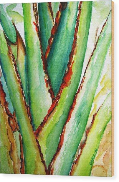Travelers Palm Trunk Wood Print