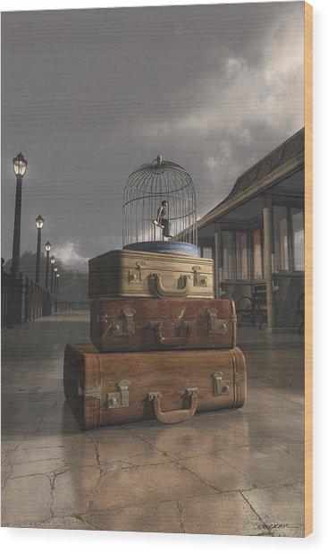 Traveling Wood Print