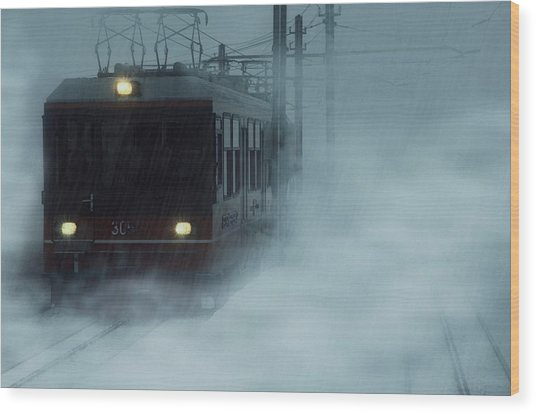 Traveling In The Snow... Wood Print