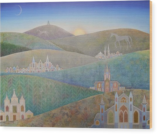 Travelling South Westward Wood Print by Jennifer Baird