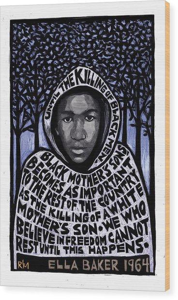 Trayvon Martin Wood Print by Ricardo Levins Morales